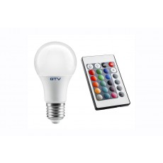 LED SIJALKA 8W (44W) E27 A60 toplo bela - 3000K + RGB